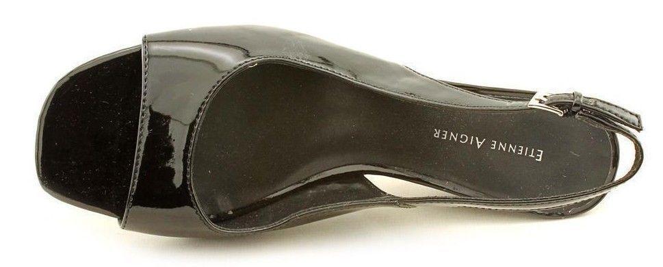 New ETIENNE AIGNER Damens Sandale Patent Leder Wedge Heel Slingback Sandale Damens Schuhe ebbbb0