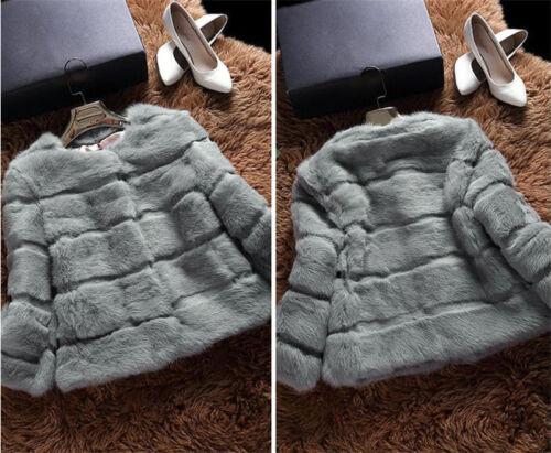 Frauen 100/% echte echte Kaninchenfell kurze Outwear Winterjacke