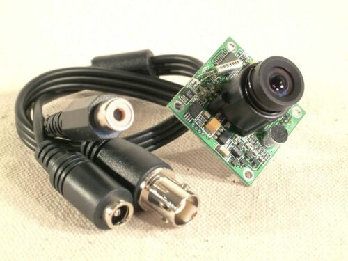 AV436 Mini Board Camera 1/4 CCD with Audio - New complete with cable!