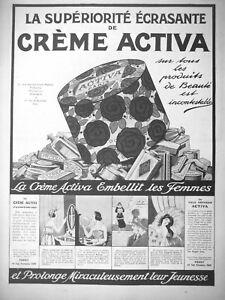 PUBLICITE-DE-PRESSE-1922-CREME-ACTIVA-LA-SUPERIORITE-ECRASANTE-PRODUIT-DE-BEAUTE