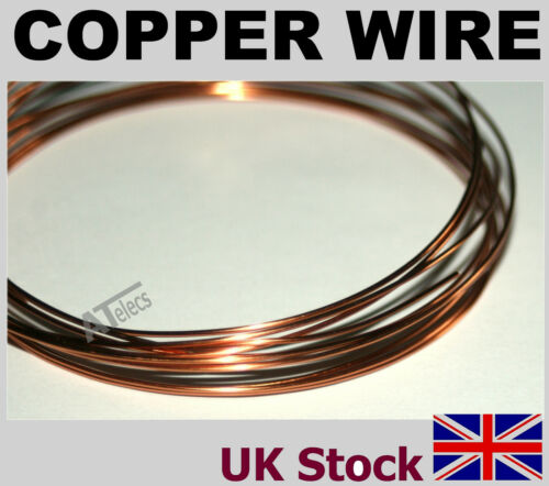 UK Stock Copper Wire  Various Gauges Polyurethane Enamelled  Non-Tarnishing