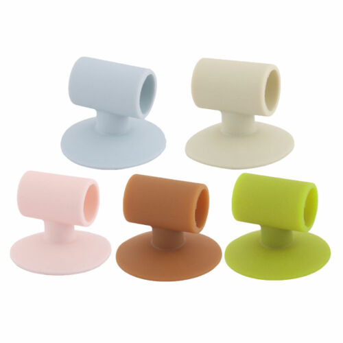 Home Room Rubber Suction Cup Door Handle Knob Stopper Wall Protector 2pcs