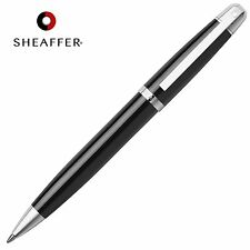 SHEAFFER 500 Ballpoint Ball Pen Gloss Black Barrel & Chrome Trim Luxury GIFT BOX
