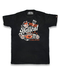 Hotrod Hellcat Herren TO HELL AND BACK T-Shirt.Biker,<wbr/>Tattoo,Custom Clothing Styl
