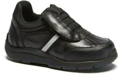 New Boys Kickers Moakie Black Leather School Shoes Trainers