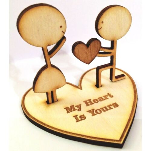 Love Figurine /'Heart is Yours/' valentines gift wedding 5th anniversary