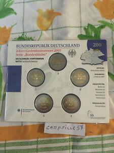 bu 5 x 2 euro commemorative allemagne 2007 5 atelier a d f g j