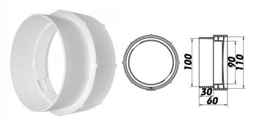 Adapter Verbinder für Rundrohr starr und Luftleitung flexibel dalap Ø100mm 1214