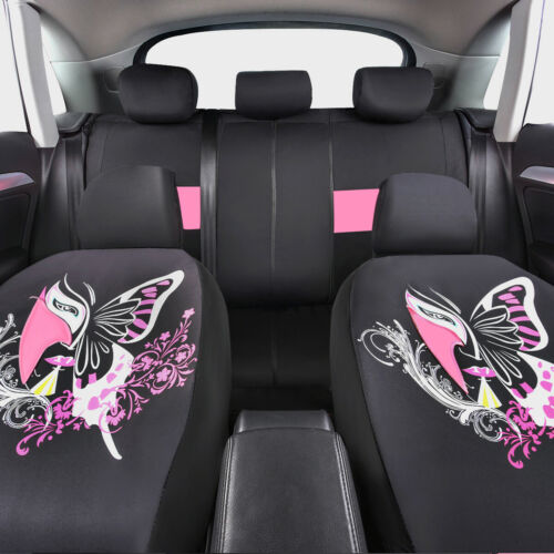 CARPASS Chinese Facebook Pink Color Universal AutoCar Seat Cover for 40//60 60//40