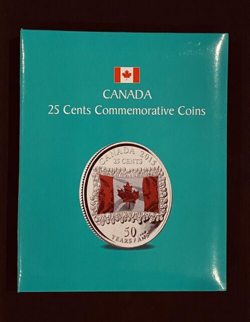 1967-2017 Canadian Coins 25 Cents Set 92 Commemorative Canada Album Quarters Lot