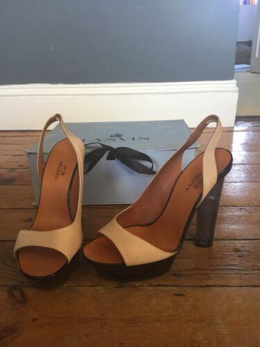 Peep Lanvin Talons Sandals Platform Toe Perspex pnAZRqO