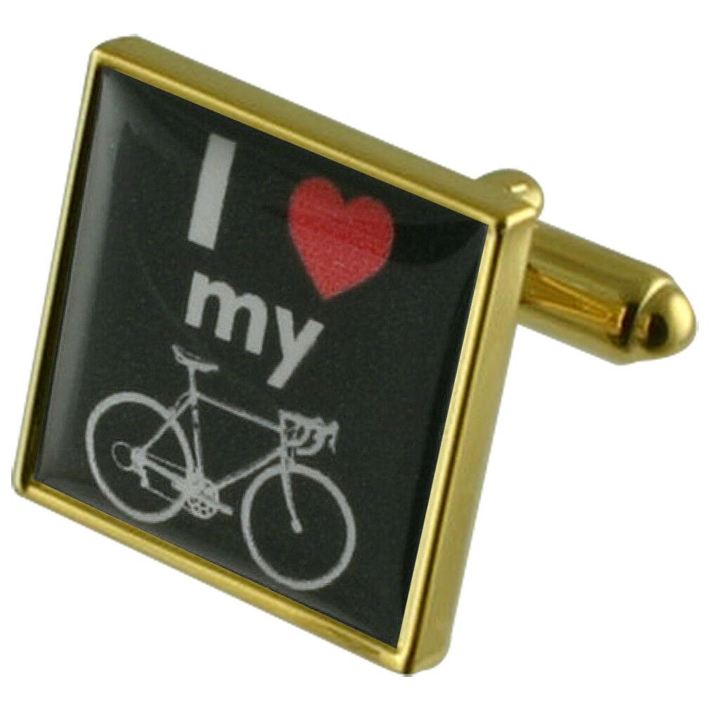 Amo la mia bici segno oro Gemelli Quadrati con con con Custodia INCISO PERSONALIZZATO 2489e3