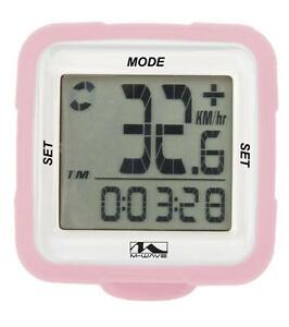 M Wave XIV Bike Cycle 14 Function Wireless Digital Computer Silicone Rose CP715