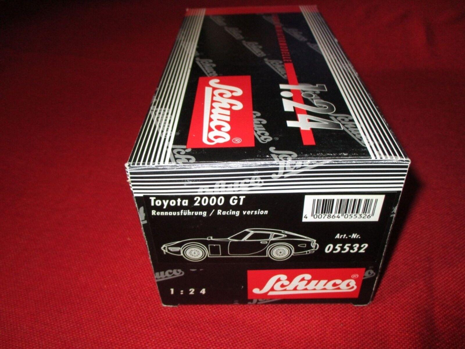 Schuco ® 05532 1:24 TOYOTA 2000 GT rennausführung/VERSIONE RACING NUOVO OVP