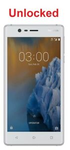 Nokia-3-4G-LTE-5-0-034-16GB-Silver-White-Au-Stock-Unlocked-8MP-Android-7