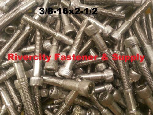 25 3//8-16x2-1//2 Socket Allen Head Cap Screw Stainless Steel .375 x 2.5