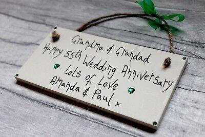 PERSONALISED 1st WEDDING ANNIVERSARY MUMMY DADDY HUSBAND WIFE 2nd 30TH 25 50TH