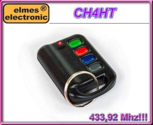 100/% original ELMES CH4HT 4-channel remote control 433,92MHz Rolling code!!