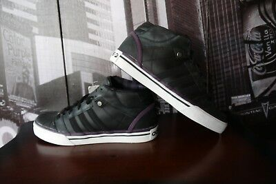 Adidas Neo David Beckham Black leather sneaker VULC MID G30509 Men's SZ US 10 | eBay