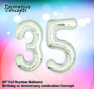 Image Is Loading Giant 35th Birthday Party 40 034 Foil Balloon