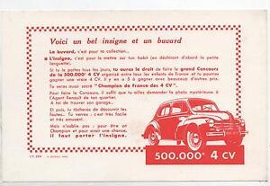 Buvard - Automobiles Renault. Concours 4 Cv, Insigne. (réf. 70/24) Glpvqr2j-07230724-593089341