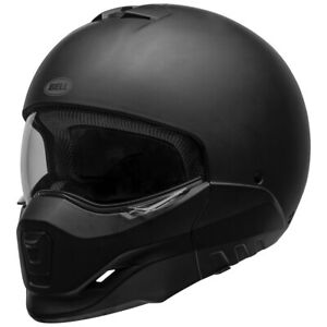 Bell-Broozer-Motorcycle-Helmet-DOT-Full-Open-Face-Matte-Black-Size-LRG