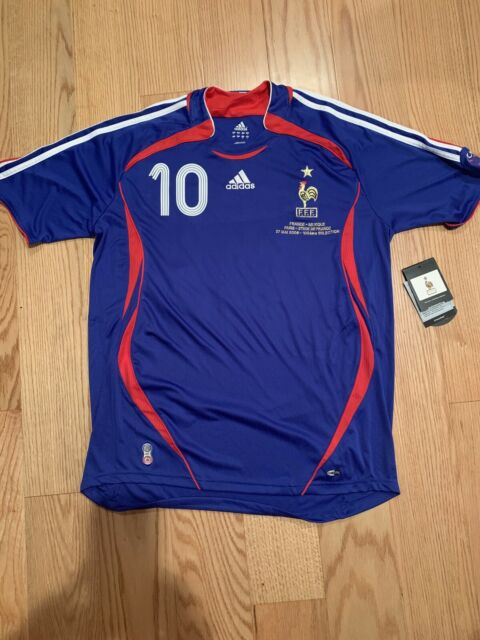 Adidas France 2006 Home Jersey Zidane 100 International Caps L Rare 740126 For Sale Online Ebay