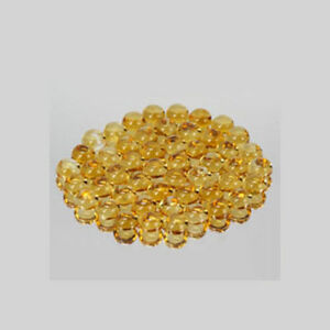 Citrine Jewelry Stone Natural Yellow Citrine Calibrated Size 3mm Round Cabochon Yellow Color Top Quality Loose Gemstone