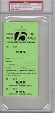 1975 All-Star Ticket pass psa Carl Yastrzemski 3 Run HR Boston Red Sox