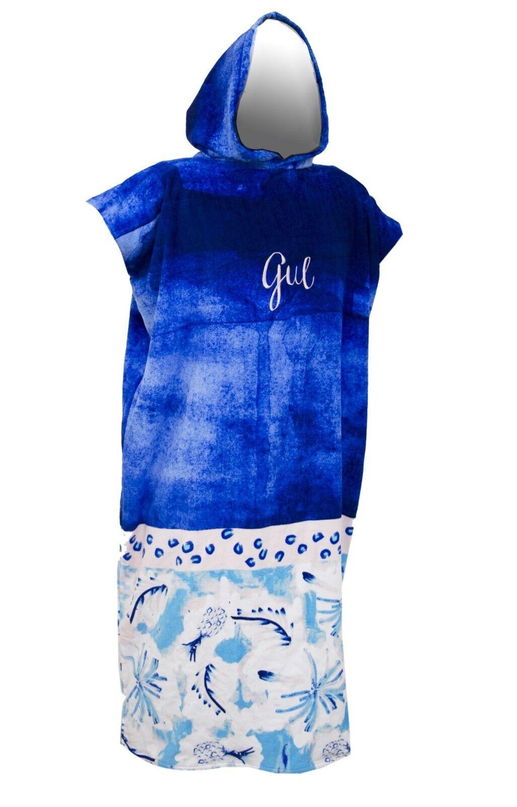 GUL 2019 CHANGING PONCHO TOWEL HOODED ROBE UNISEX SUMMER BEACH blueE PINEAPPLE