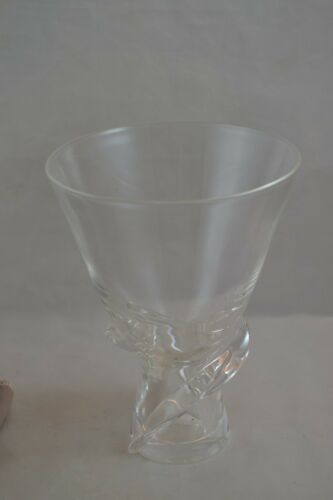 Steuben Vintage Clear Bouquet Swirl Vase Tall