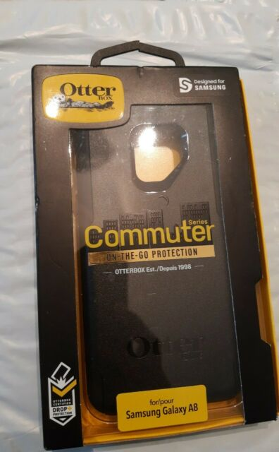 New OtterBox COMMUTER SERIES Case for Samsung Galaxy A8, Black, Open box new