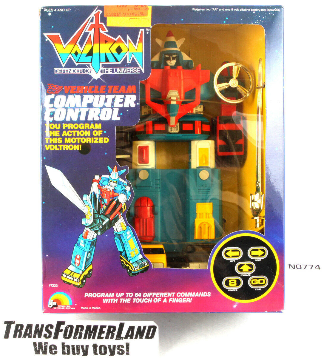 Computer Control Vehicle Team Voltron w box Electronic Vehicles LJN voltron