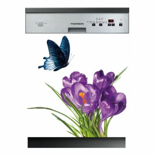 Decal stickers dishwasher flowers butterflies ref lav-259