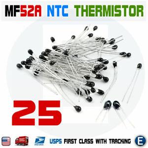 3950K ±1/% 20 Pcs NTC Thermistor Resistor NTC-MF52AT 10K OHM  ±5/% B