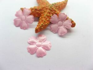 1000-Pink-Ribbon-Padded-Flower-Embellishments-Trims