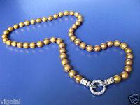 Brown Pearl Necklace Barbara Bixby Ss 18k O Ring Honora Designer Gift 16 Bronze