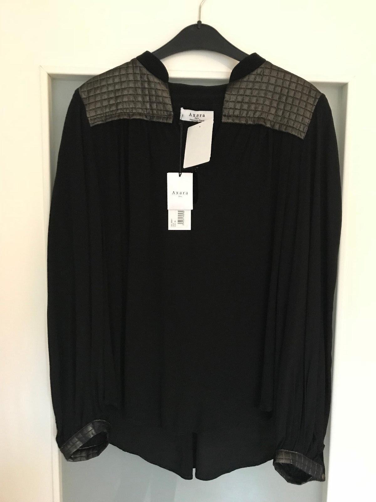 Axara Paris Damen Blause Tunika Gr. 40 schwarz NEU mit Etikett HX4 20641
