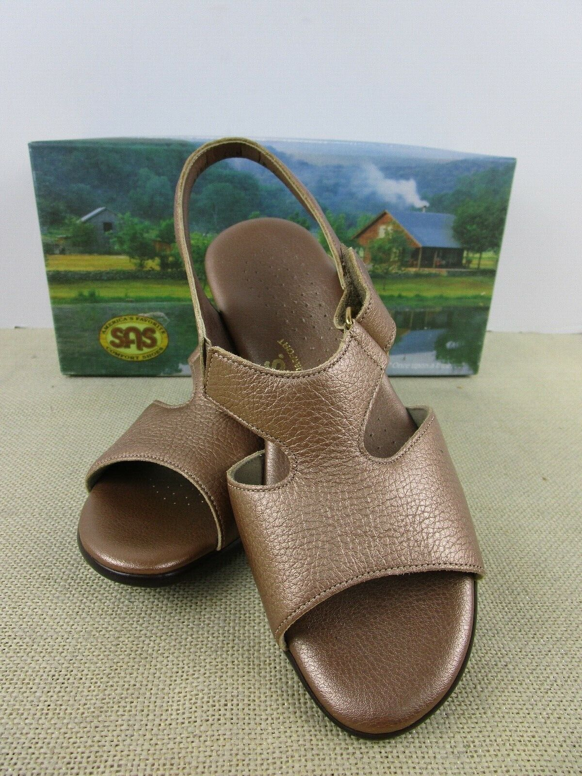 SAS SUNTIMER COPPER LEATHER WOMENS SHOES NEW IN BOX USA MADE