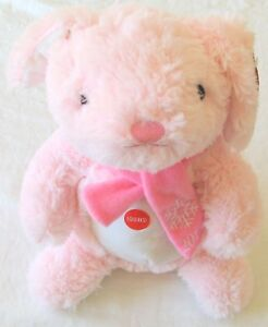 Pink-Rabbit-034-Hope-034-2018-Collectible-Dog-Toy-with-Squeaker-Plush-B12