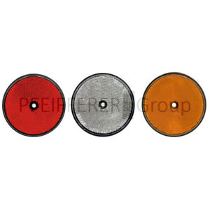 Catadioptres 10 Pcs. Rond 60 Mm Jaune Coup Fixe En Plastique-afficher Le Titre D'origine Y0aniv1a-08002620-607421623