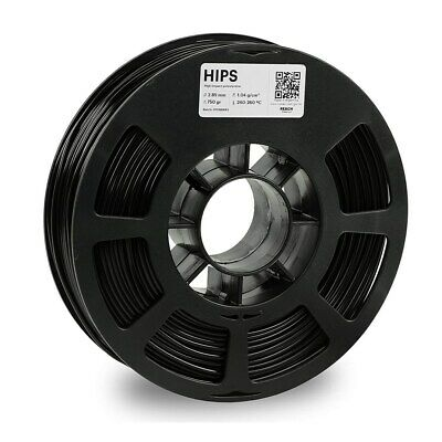 Kodak 2.85mm Hips Filament 750g Black High-resolution Smooth Surfaces Brand New 3d Printer Consumables
