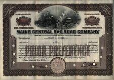 Maine Central Railroad Company Stock Certificate 1946
