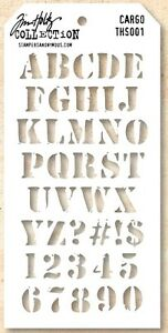 tim holtz layering stencil template cargo army letters alphabet