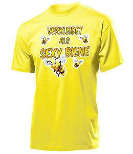 Karneval Fasching Verkleidet Als Sexy Biene T Shirt Herren S Xxl