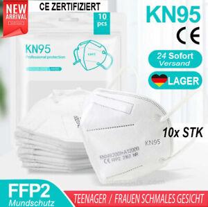 10x Set FFP2 Frauen schmales Gesicht für Teenager Jugend Kinder Mundschutz Maske