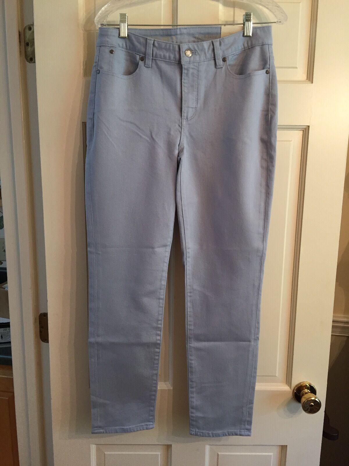 NWT Talbots Heritage Ankle Jeans blå Aura Misses Storlek 8  79.50