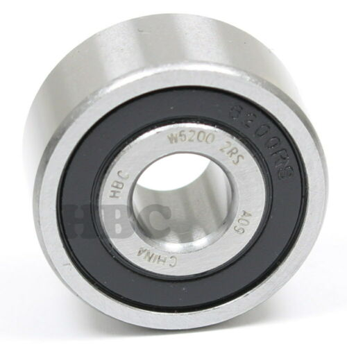 Ball Bearing HBC W6200-2RS Cartridge Type With 2 Rubber Seals 10x30x14mm