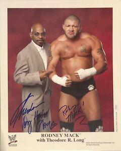 Rodney Mack & Teddy Long Signed WWF Original 8x10 Wrestling Promo Photo P814 WWF