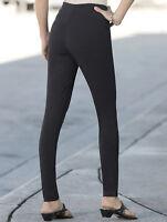 Womens Monroe & Main Black Control Leggings Pants Size Medium